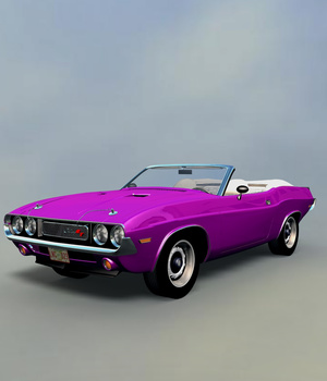 DODGE CHALLENGER 1970 CONVERTIBLE - Extended License 3D Models Extended Licenses 3D Game Models : OBJ : FBX 3DClassics