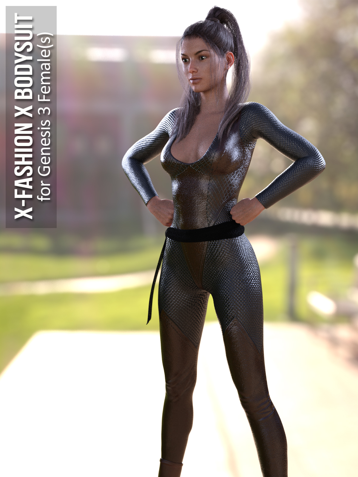 X-Fashion X Bodysuit for Genesis 3 Females 3D Figure Assets xtrart-3d b4efb1c84