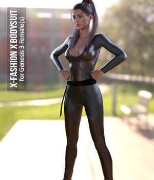 X-Fashion X Bodysuit for Genesis 3 Females 3D Figure Assets xtrart-3d