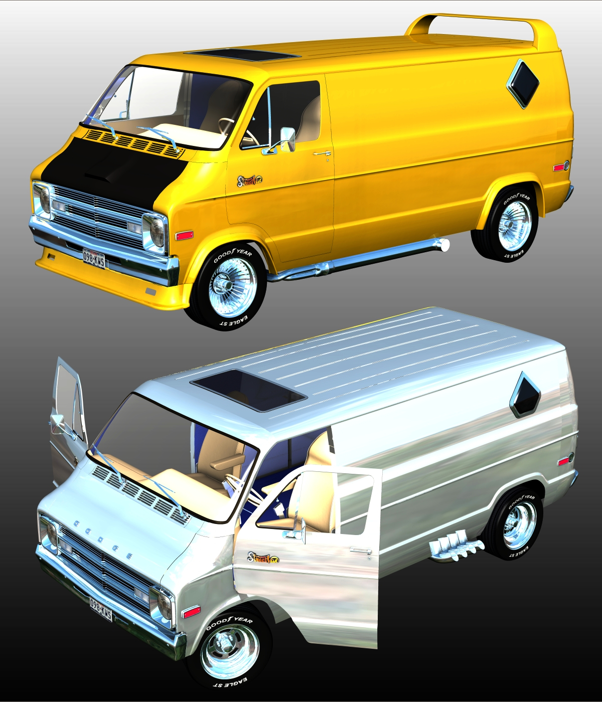 DODGE STREET VAN 1970 - Extended License