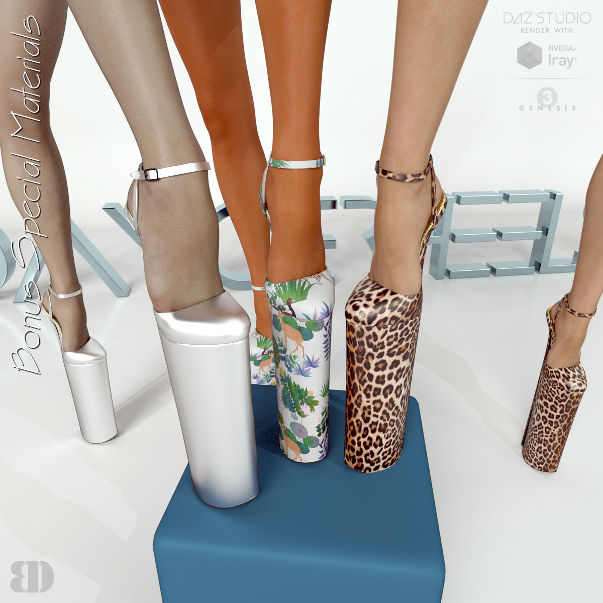 7fa44ce6aae4 3D Figure Assets • Footwear · DANGERHEELS - 16 inches Platform Sandals for  G3F · Previous Next