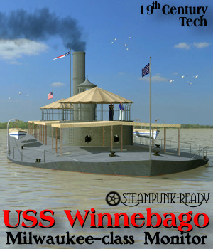USS Winnebago River Monitor 3D Models Michael_C