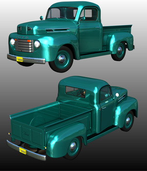 FORD F100 1950 - Extended License 3D Models Extended Licenses Ourias3D