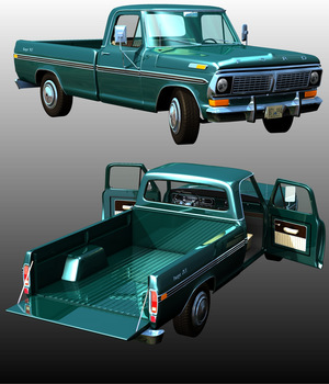 FORD F100 1970 - Extended License 3D Models Extended Licenses Ourias3D
