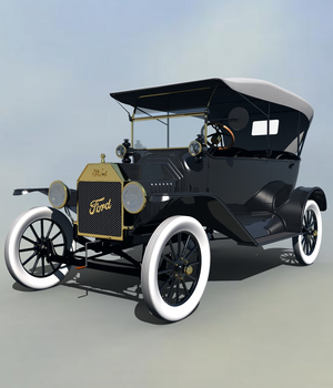 FORD T TOURING 1915 EXTENDED LICENSE 3D Models Extended Licenses 3DClassics