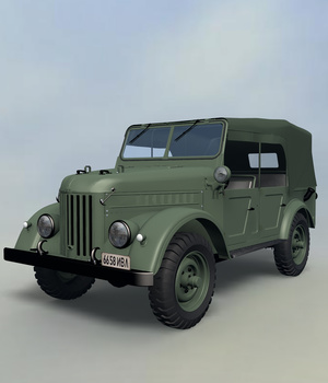 GAZ69 COMMAND CAR EXTENDED LICENSE 3D Models Extended Licenses Nationale7