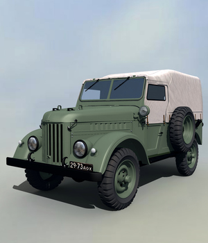 GAZ69 TROOP CARRIER EXTENDED LICENSE 3D Models Extended Licenses 3DClassics
