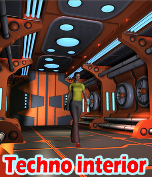 Techno interior 3D Models 1971s