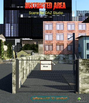 Restricted Area DAZ 3D Models JeffersonAF