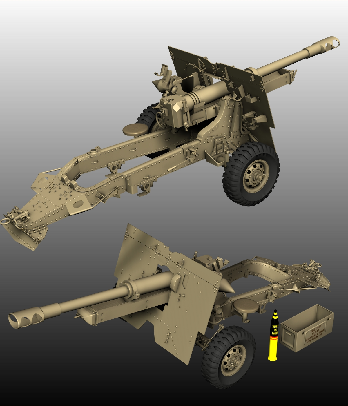 HOWITZER 25 PDR-EXTENDED LICENSE by 3DClassics