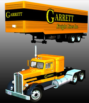 KENWORTH 825 & TRAILER 1948-EXTENDED LICENSE 3D Models Extended Licenses Nationale7
