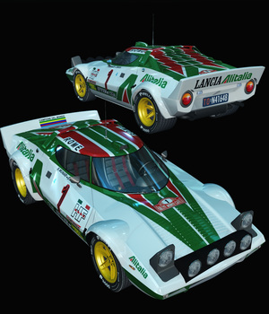 LANCIA STRATOS RALLYE-EXTENDED LICENSE 3D Models Extended Licenses Nationale7