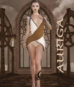 Auriga Dress for Genesis 3 Female/V7 3D Figure Assets EllerslieArt