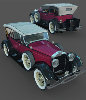 LINCOLN 1929 SPORT TOURING-EXTENDED LICENSE 3D Game Models : OBJ : FBX 3D Models Extended Licenses Nationale7