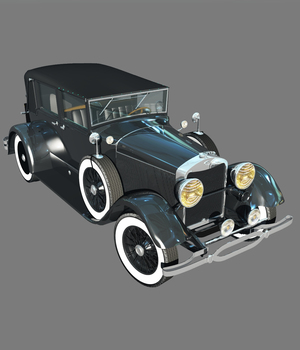 LINCOLN 1929 TOWN CAR-EXTENDED LICENSE 3D Game Models : OBJ : FBX 3D Models Extended Licenses Nationale7