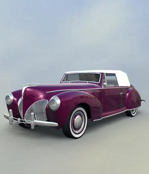 LINCOLN 1941 COUPE CONVERTIBLE- EXTENDED LICENSE 3D Game Models : OBJ : FBX 3D Models Extended Licenses 3DClassics