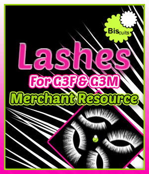 Biscuits Lashes G3F G3M Merchant Resource by Biscuits