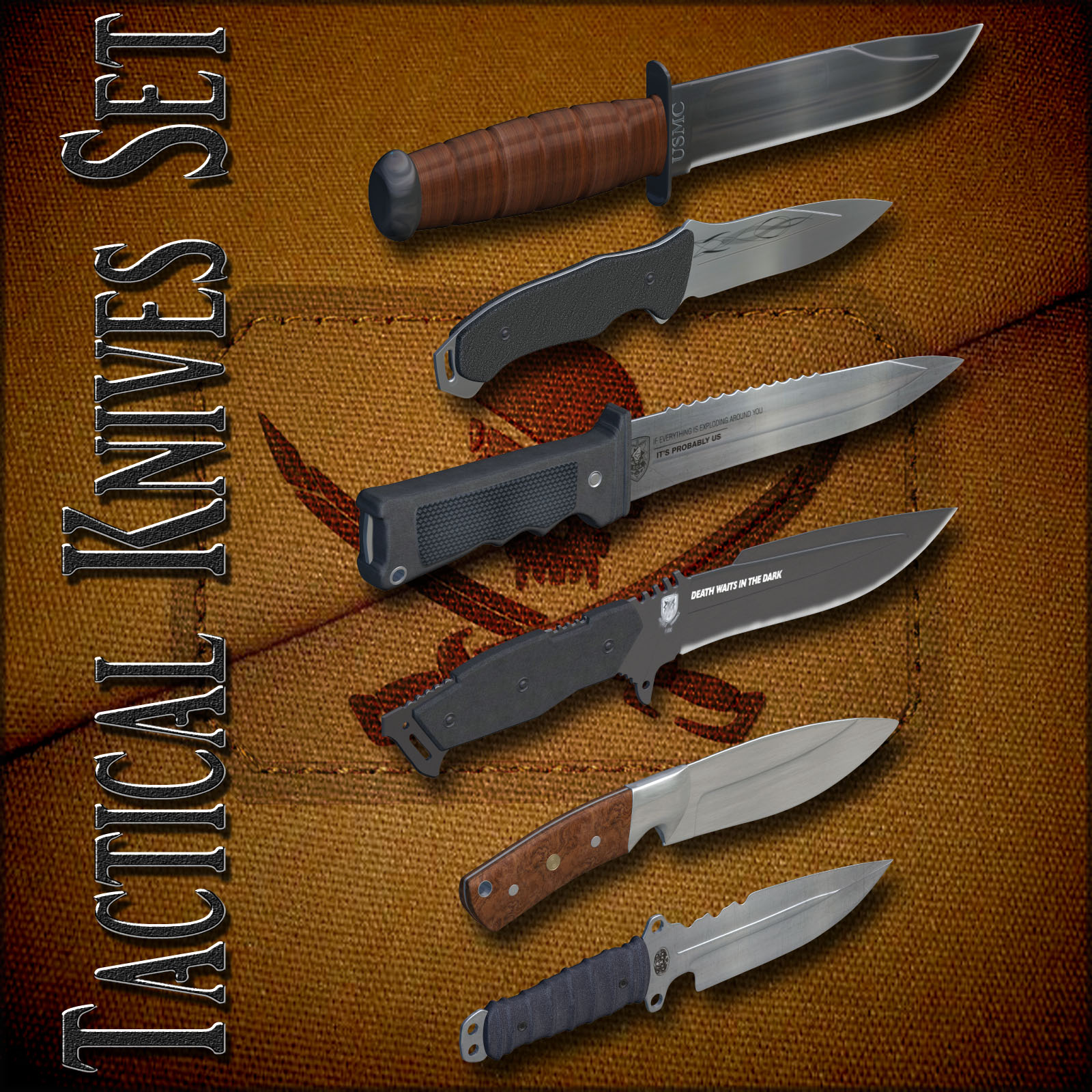 Tactical Knives Set by Richabri