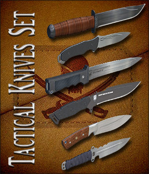 Tactical Knives Set 3D Models Richabri