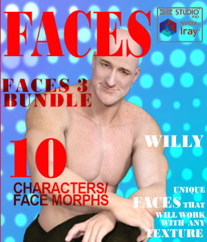 Faces 3 Bundle for Genesis, M5, G2M, M6, G3M and M7 3D Figure Assets farconville