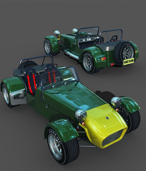 LOTUS CATERHAM-EXTENDED LICENSE 3D Game Models : OBJ : FBX 3D Models Extended Licenses 3DClassics