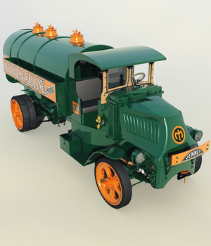 MACK AC 1926 TANK TRUCK-EXTENDED LICENSE 3D Game Models : OBJ : FBX 3D Models Extended Licenses Nationale7