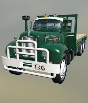 MACK B61 STAKE BED-EXTENDED LICENSE 3D Game Models : OBJ : FBX 3D Models Extended Licenses Nationale7