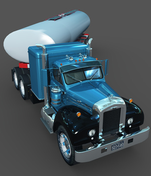 MACK B100 AND TANK TRAILER-EXTENDED LICENSE 3D Models Extended Licenses 3DClassics
