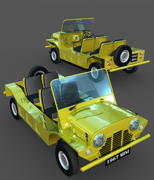 MINI MOKE-EXTENDED LICENSE 3D Models Extended Licenses 3DClassics