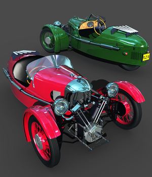 MORGAN 3 WHEELER-EXTENDED LICENSE 3D Models Extended Licenses 3DClassics