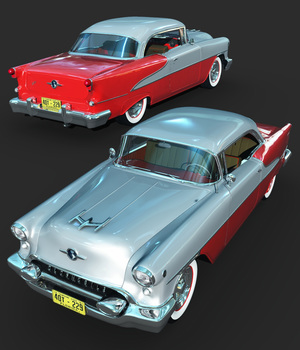 OLDSMOBILE 88 1954-EXTENDED LICENSE 3D Models Extended Licenses Ourias3D