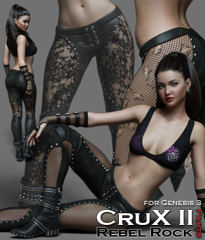 CruX II - Rebel Rock Pants 3D Figure Assets Rhiannon