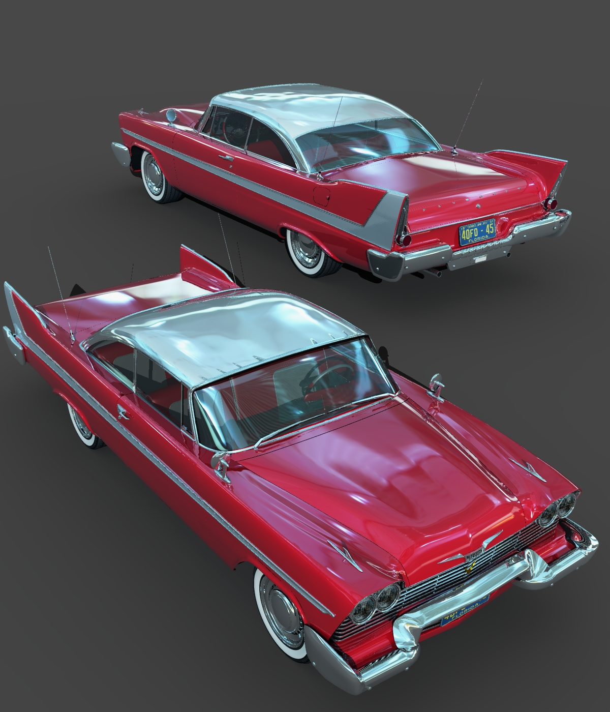 plymouth fury 1958 extended license 3d models extended. Black Bedroom Furniture Sets. Home Design Ideas