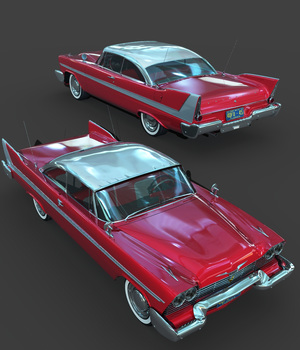 PLYMOUTH FURY 1958-EXTENDED LICENSE 3D Models Extended Licenses 3DClassics
