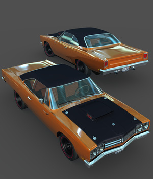 PLYMOUTH ROADRUNNER 1969-EXTENDED LICENSE 3D Models Extended Licenses 3DClassics