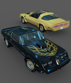 PONTIAC FIREBIRD TRANS AM 1979-EXTENDED LICENSE 3D Models Extended Licenses Nationale7