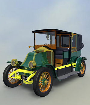 RENAULT FIACRE LANDAULET 1910-EXTENDED LICENSE 3D Models Extended Licenses Nationale7