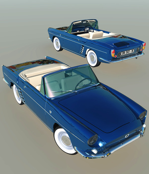 RENAULT FLORIDE 1958-EXTENDED LICENSE 3D Models Extended Licenses Nationale7