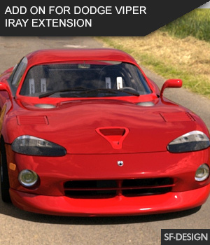 Add On for Dodge Viper by Vanishing Point (Iray Extension) 3D Figure Assets SF-Design
