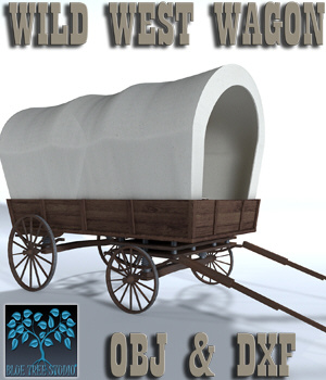 Wild West Wagon - Extended License 3D Models Extended Licenses 3D Game Models : OBJ : FBX BlueTreeStudio