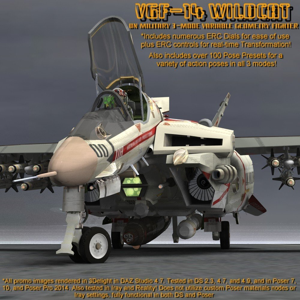 VGF-14 D Wildcat (for Poser) by VanishingPoint