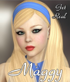 Get Real for Maggy Hair 3D Figure Assets chrislenn