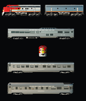 SANTA FE SUPERCHIEF BUNDLE-EXTENDED LICENSE 3D Models Extended Licenses 3DClassics