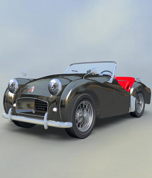 TRIUMPH TR2-EXTENDED LICENSE 3D Models Extended Licenses Nationale7