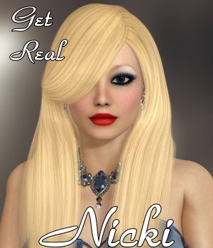 Get Real for Nicki Hair 3D Figure Assets chrislenn