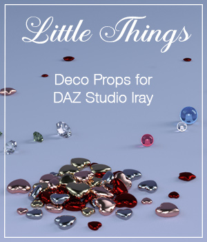 Little Things for Daz Studio 3D Figure Assets 3D Models EyesblueDesign