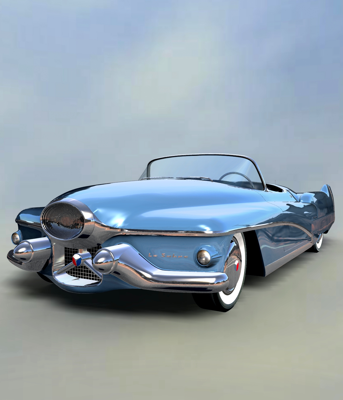 BUICK LE SABRE 1951 EXTENDED LICENSE by 3DClassics