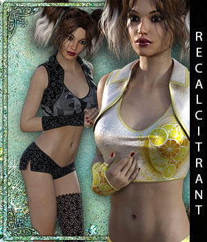 Recalcitrant for Traced Outfit 3D Figure Assets sandra_bonello