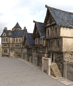 Medieval Street (for DAZ Studio) 3D Models VanishingPoint