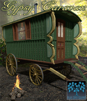 Gypsy Caravan 3D Models BlueTreeStudio
